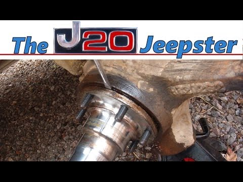 Removing steering knuckle and axle on a 1990 Chevy Suburban 1500 4x4