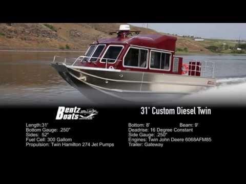Bentz Boats - 31' Twin John Deere Diesel and Hamilton 274 Waterjets