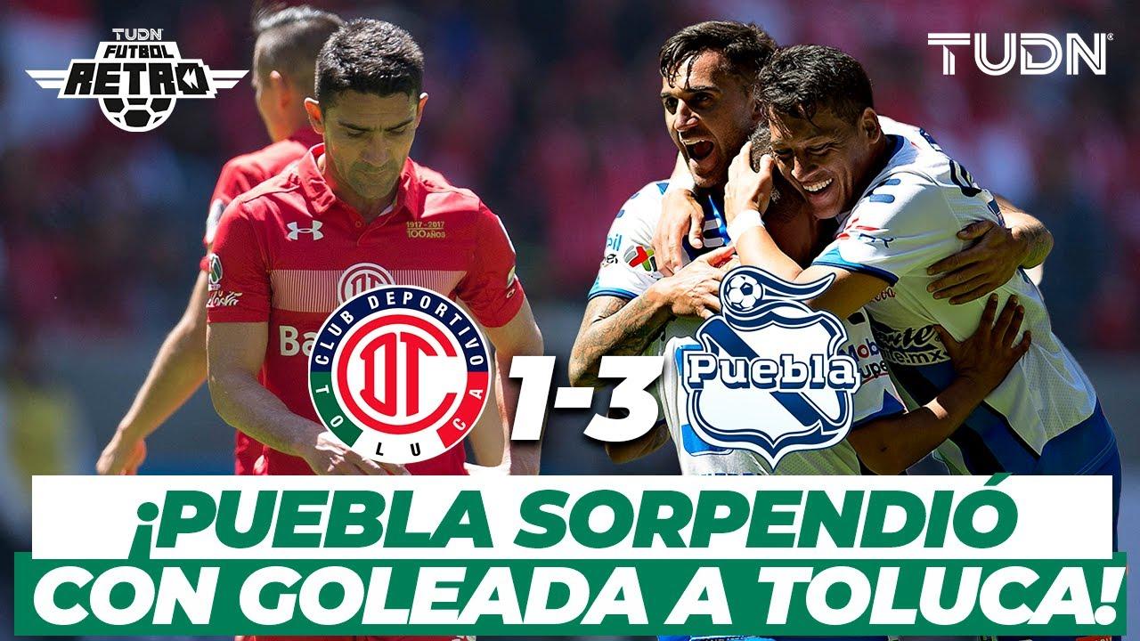 Futbol Retro: ¡El Puebla de Cardozo goleó al Toluca! | Toluca 1-3 Puebla | TUDN
