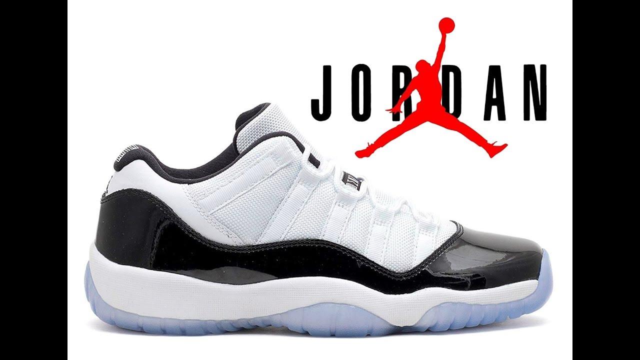NIKE AIR Jordan 11 Retro Low GS Concord 528895 153 White Black Dark ... 849f610c6