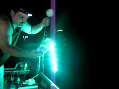 first night with the reel-lites green fishing light - youtube, Reel Combo