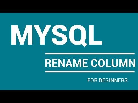 How To Rename Column Name In Mysql