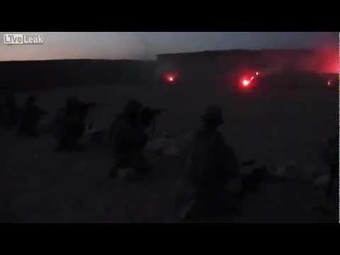 US Troops Get Rid of Tracer Rounds Before They Return Home from Combat (Basrah,Iraq)