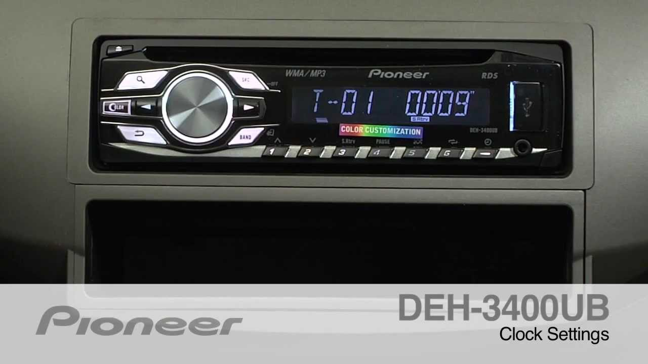 Pioneer deh 3400ub инструкция