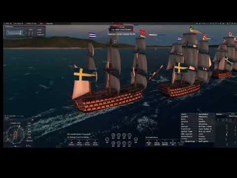Naval Action Portbattle in Cartagena SWE vs GB