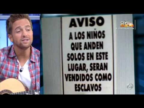 Pablo Alboran en el hormiguero cantando - Poniendo musica a carteles! 2012