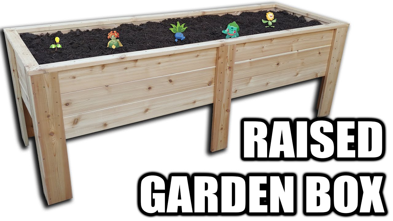 How To Build A MASSIVE Raised Garden Box - Free Plans! - YouTube