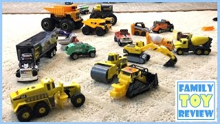 Construction Trucks for Kids - Construction Toys at Job Site - Tonka Trucks DieCast Truck Collection