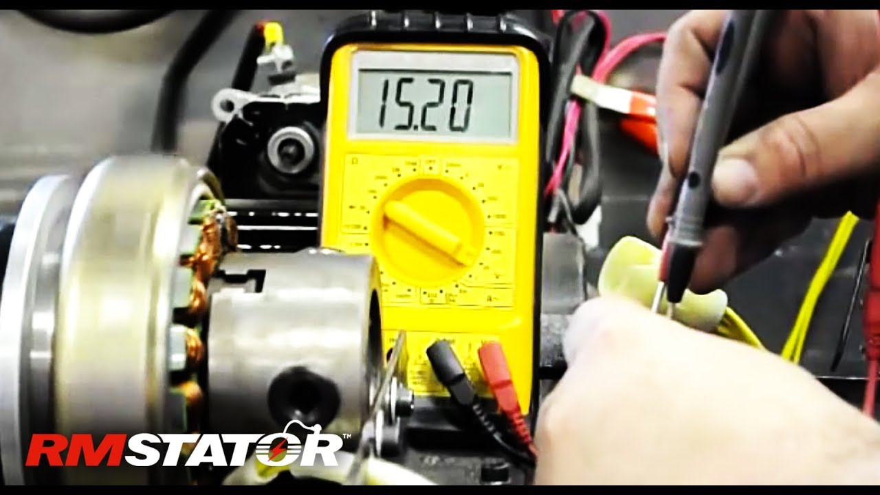 testing three phase alternator stator, regulator rectifier charging system
