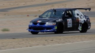 Mitsubishi EVO VII Shakedown at Willow Springs - Jet Black Racing