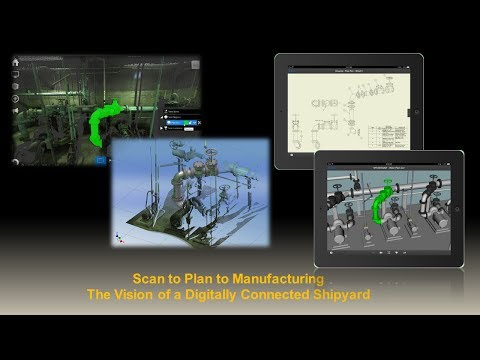 Scanning to Planning to Manufacturing - The Vision of a Digitally Connected Shipyard