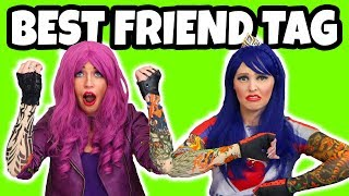 Best Friend Tag Challenge Descendants Mal vs Evie Real or Fake Totally TV