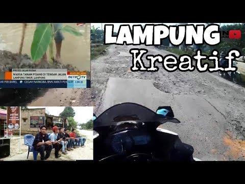 #31.ngomongin jalan rusak dan kekreatifan di lampung #motovlogindonesia