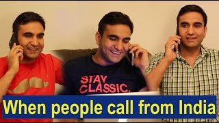 When people call me in America - | Lalit Shokeen Comedy |