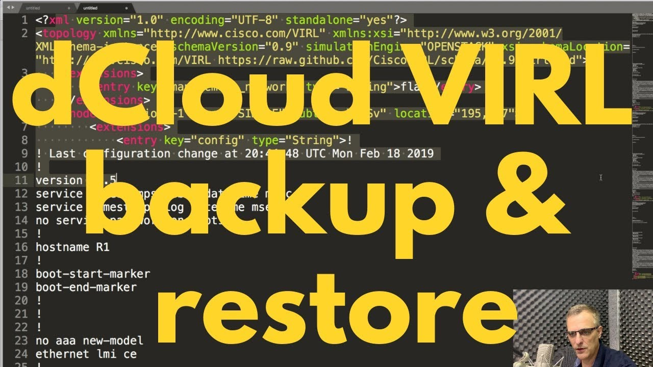 Free CCNA VIRL Labs! How to backup and restore your Cisco dCloud labs! CCNA  | CCNP | Python