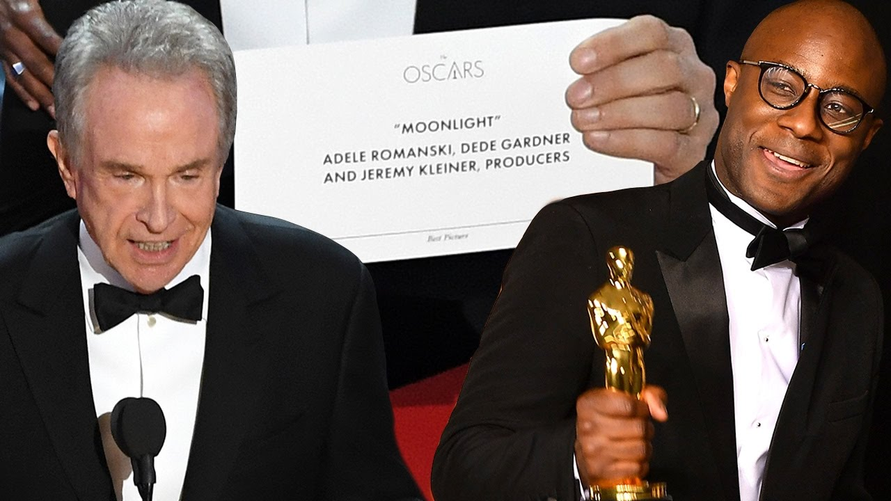 Epic Oscars Fail! - Warren Beatty and Faye Read Wrong Best Picture