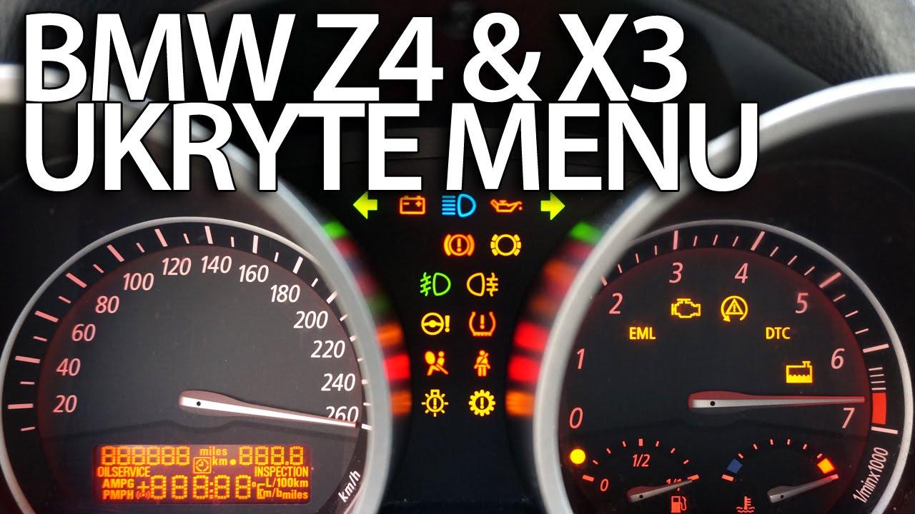 Ukryte Menu Zegar 243 W Bmw Z4 E85 E86 X3 E83 Testowy Tryb