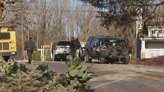 Frost-covered SUV crashes into Hamilton Co. school bus