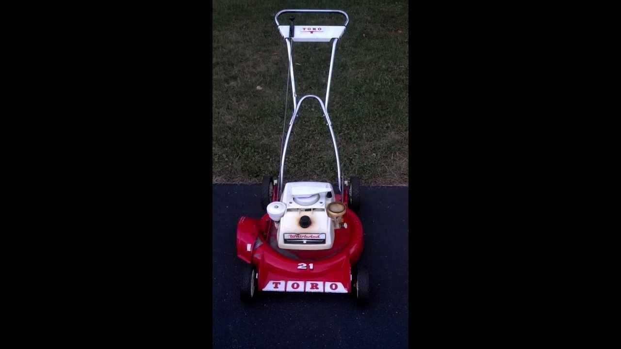 Vintage 1968 Toro Whirlwind Lawnmower Youtube
