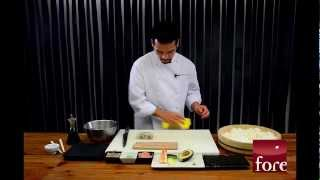 Restaurante Fore  - Cómo hacer Sushi. California Roll.mp4