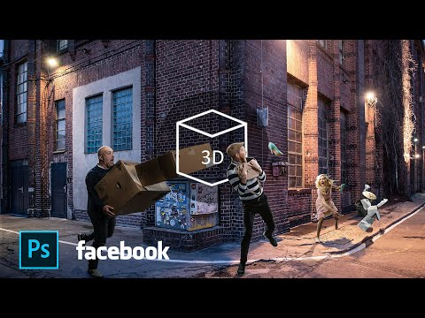 Create Facebook 3D Photo From ANY photo in Photoshop! - Easy! thumbnail