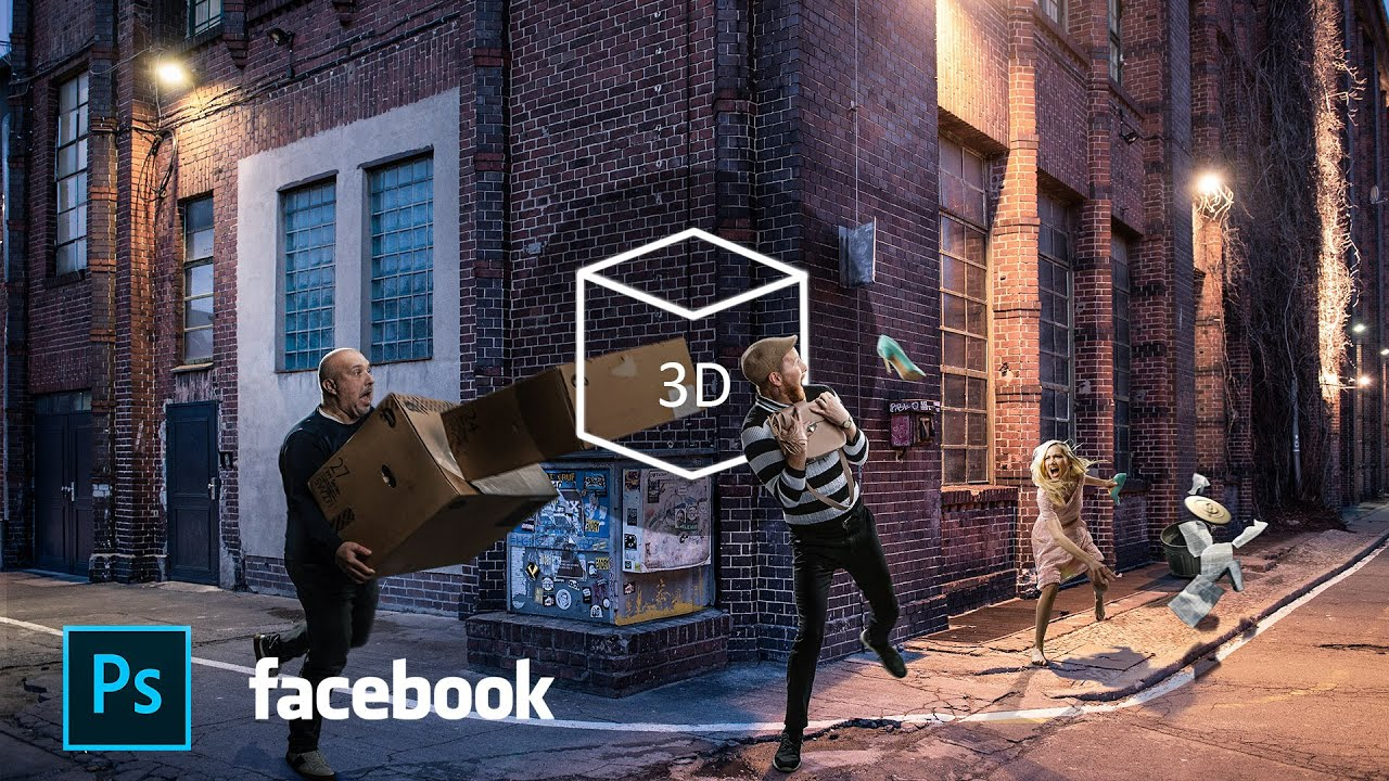 Create Facebook 3D Photo From ANY photo in Photoshop! - Easy!