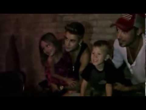Justin Bieber singing Happy 4th Birthday, Jaxon Bieber!