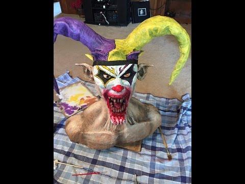 Paper Mache Evil Joker Bust