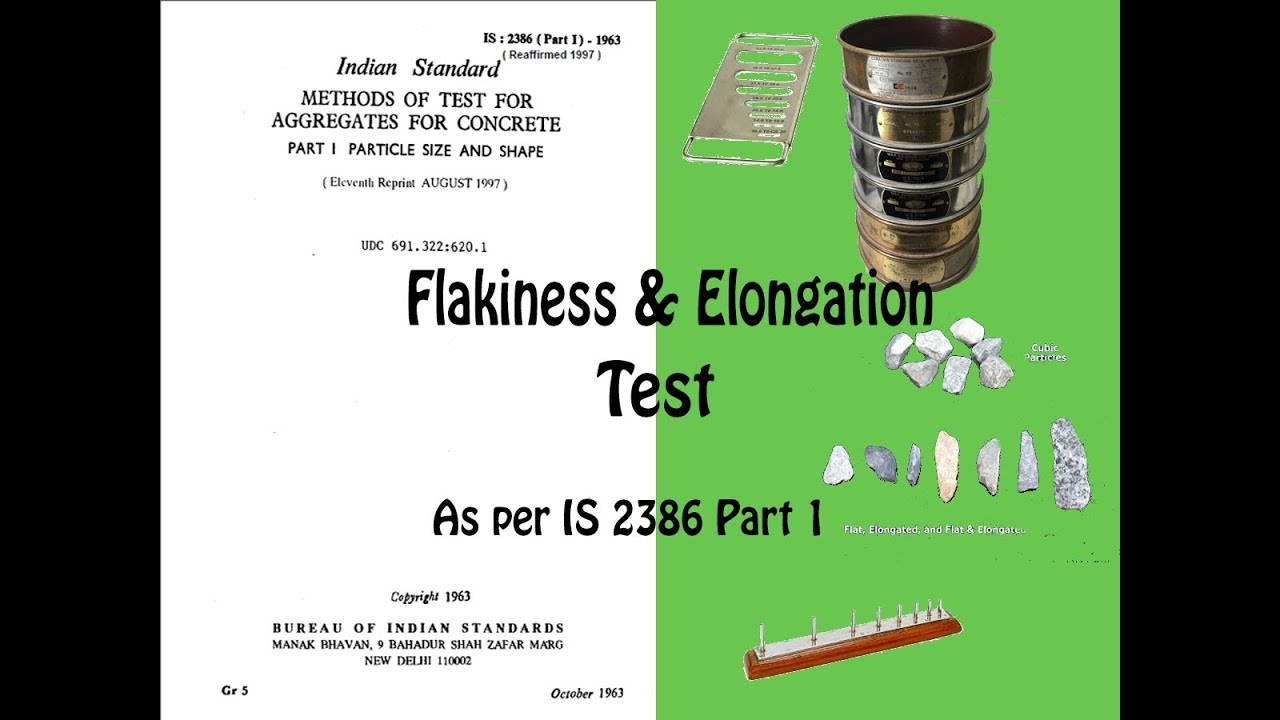 Flakiness and Elongation test of Aggregate as per IS 2386 part 1, content  aggregator