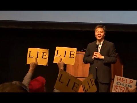 CONGRESSMAN TED LIEU HOLDS RAUCOUS TOWNHALL MEETING IN REDONDO BEACH CALIFORNIA. FULL VIDEO