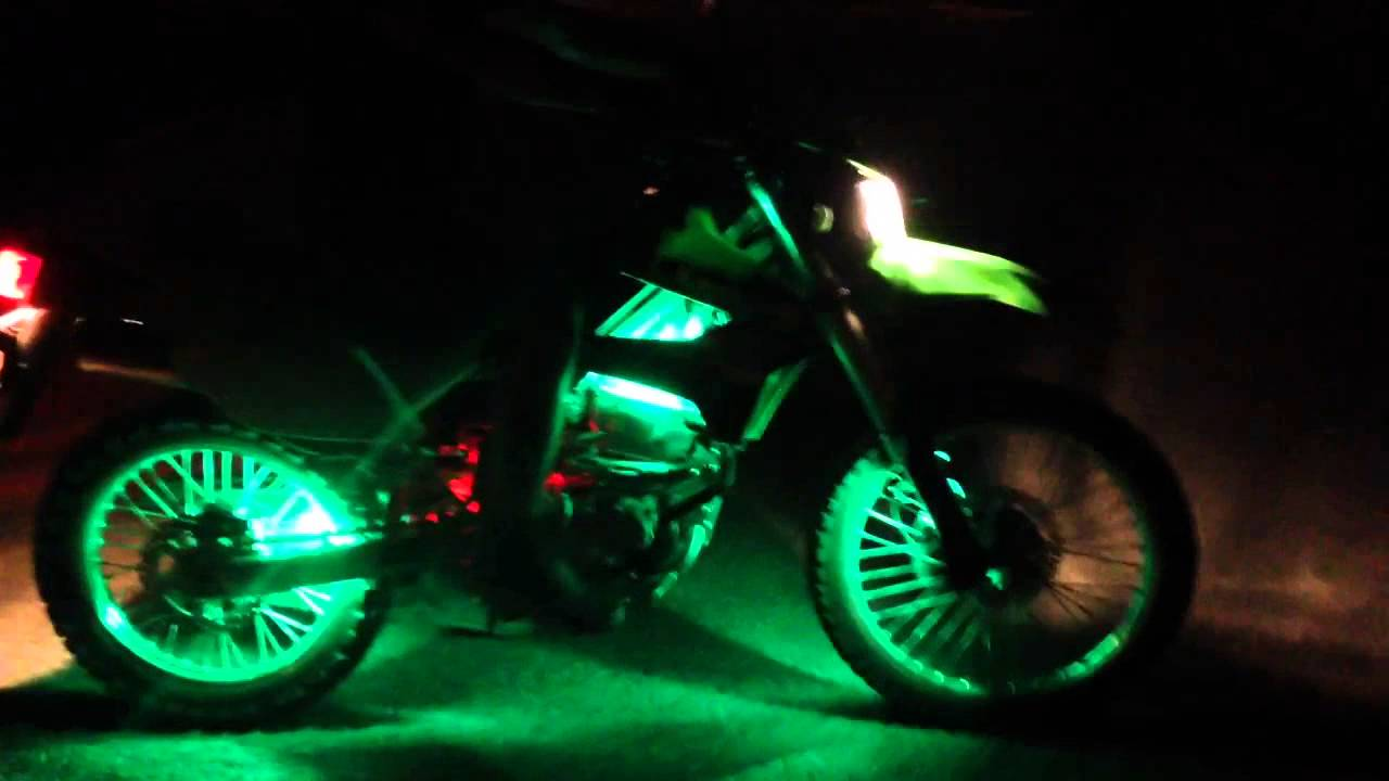 Klx 250s with led underglow youtube - Underglow neon ...