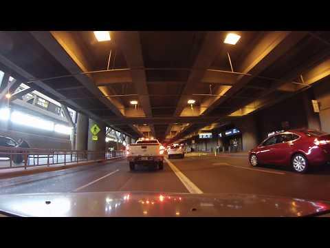 Driving through Phoenix Sky Harbor International Airport