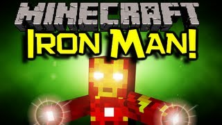Minecraft: IRON MAN MOD Spotlight - BE A SUPERHERO! (Minecaft Mod Showcase)