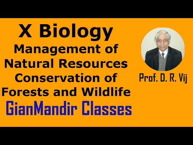 X Biology | Management of Natural Resources | Conservation of Forests and Wildlife by Manjit Ma'am