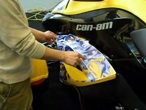 Can Am Spyder Side Cover Graphics Kit Installation