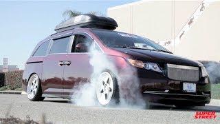 1000+hp Bisimoto Honda Odyssey Van Burnouts! Thumbnail