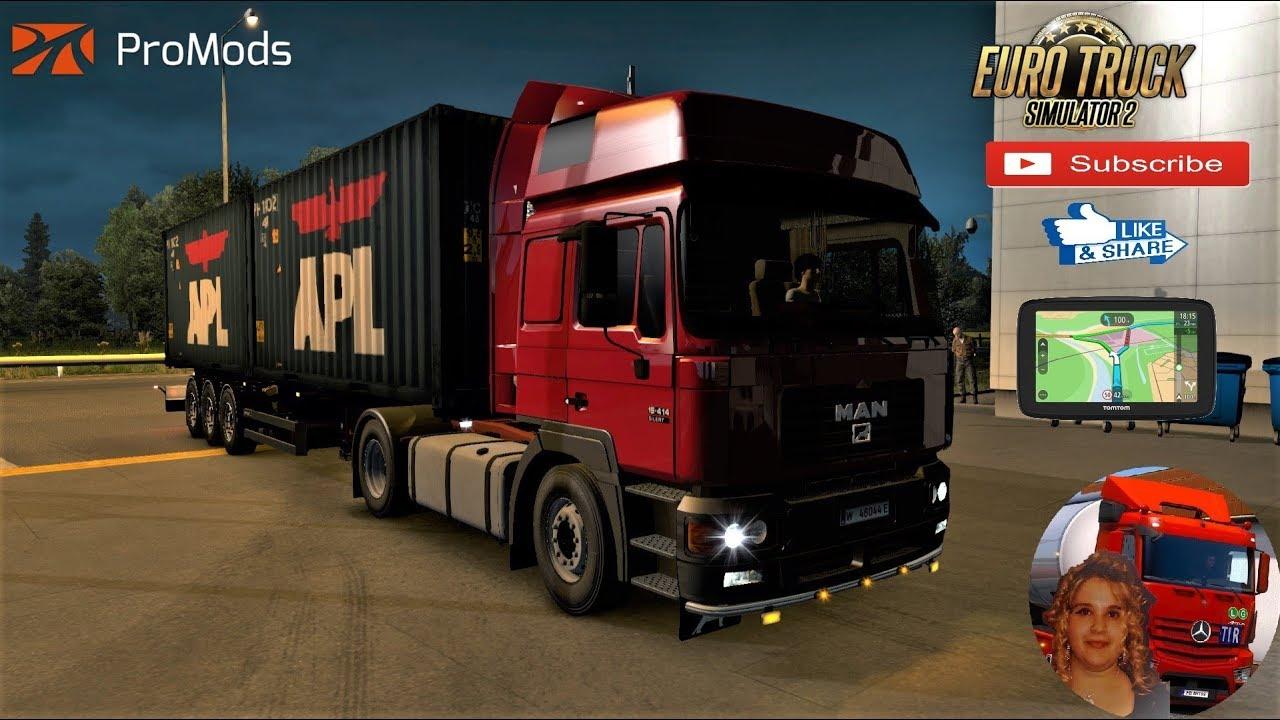 Euro Truck Simulator 2 (1 35) MAN F2000 19 414/604 1 35 Promods 2 41 +  DLC's & Mods
