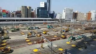 リニア中央新幹線の工事に備えるためのJR名古屋駅構内の在来線ホームの撤去作業工事 2019.4.6