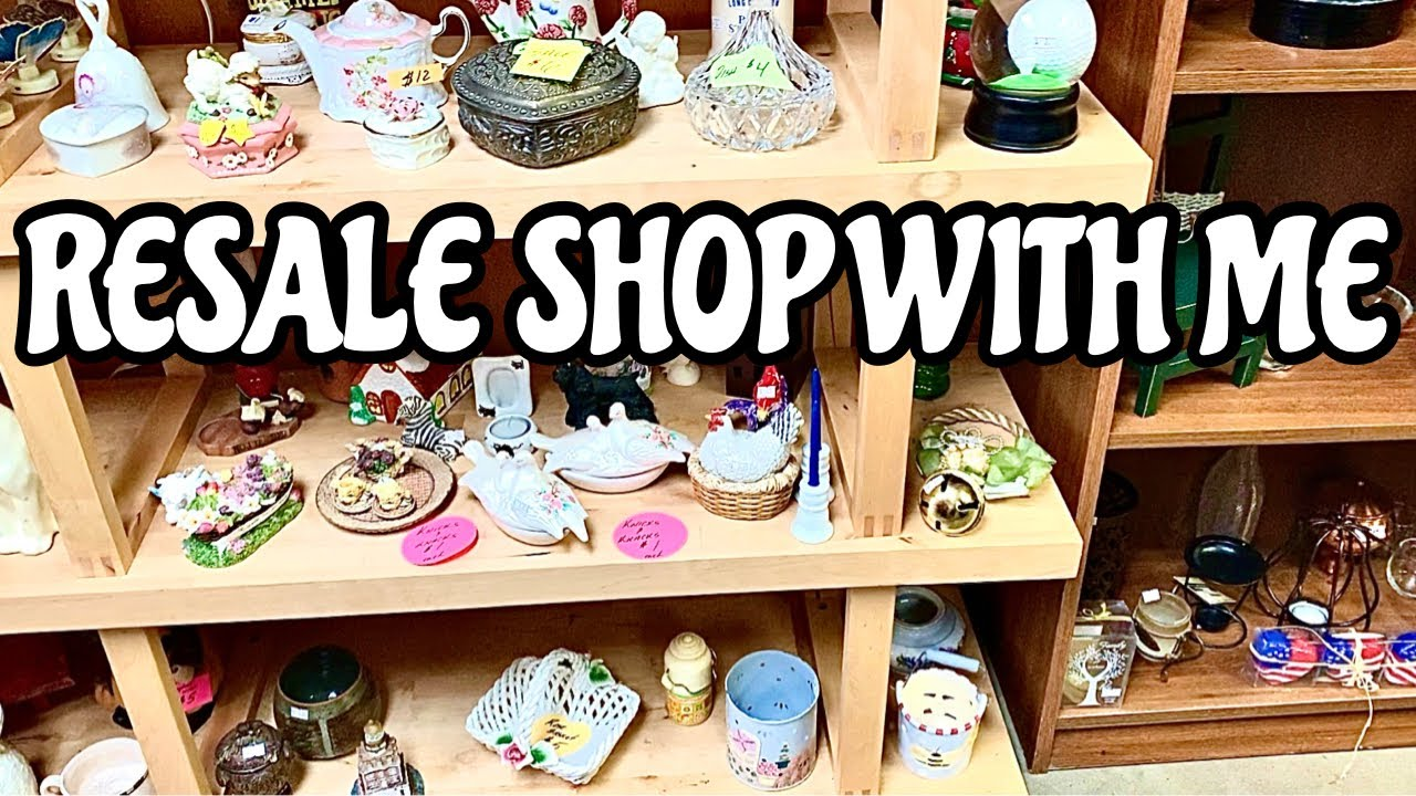 Resale Shop With Me Home Decor Thrift Shopping Youtube