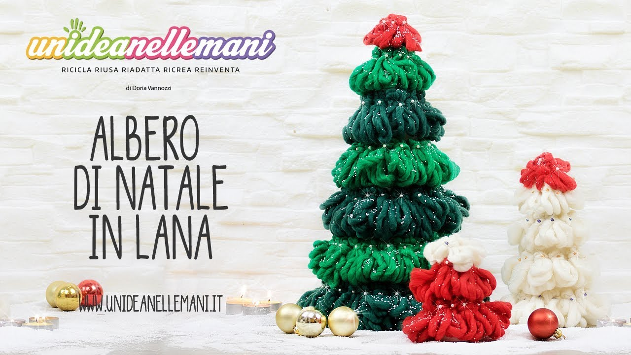 Come fare un albero di natale in lana tutorial youtube for Obi albero di natale
