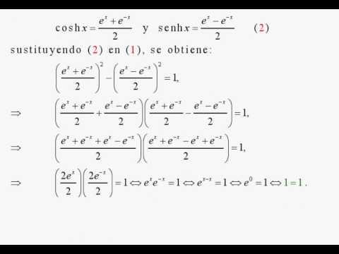 Identidades funciones hiperbolicas demostracion