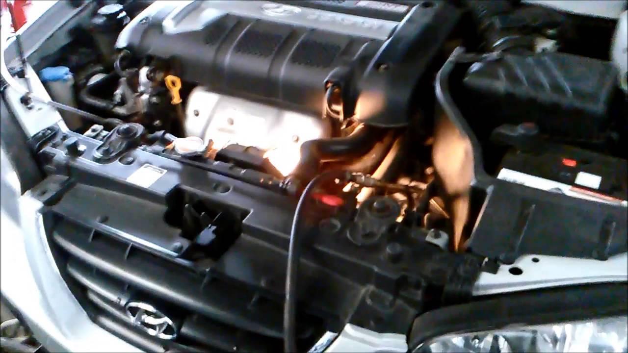 2016 Hyundai Santa Fe >> Hyundai Elantra 2L 2006 F4A42 Automatic Transmission Service - YouTube
