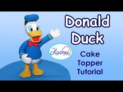 Donald Duck Cake Topper Tutorial
