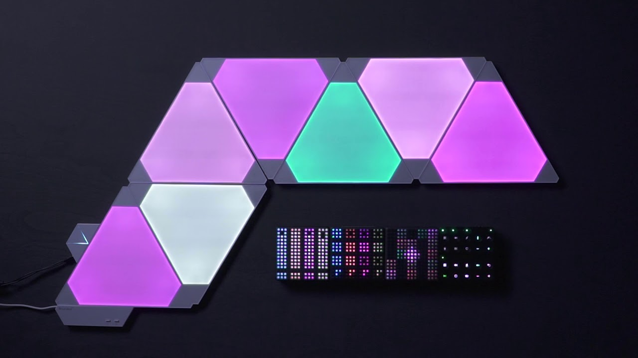 Light Up Your Music Lightpad Block X Nanoleaf Light