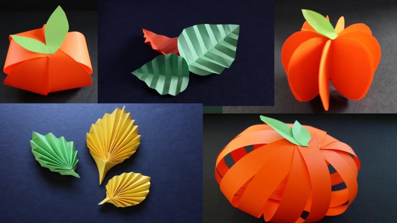 Basteln Mit Papier Herbstspecial 5 Basteltipps Fur Deko Im Herbst