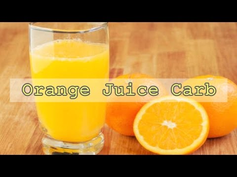 Orange Juice Carbs raw Nutrition Facts & Calories