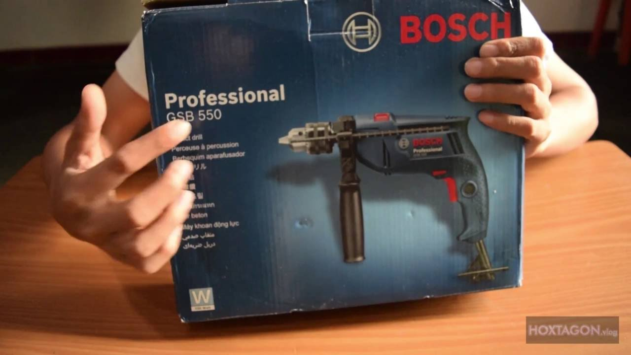 unboxing and review bosch gsb 550 impact drill ina youtube. Black Bedroom Furniture Sets. Home Design Ideas