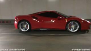 SIêu Xe Ferrari 488 GTB Nẹt Pô Liên Hồi Ở Phố Đi Bộ Nguyễn Huệ