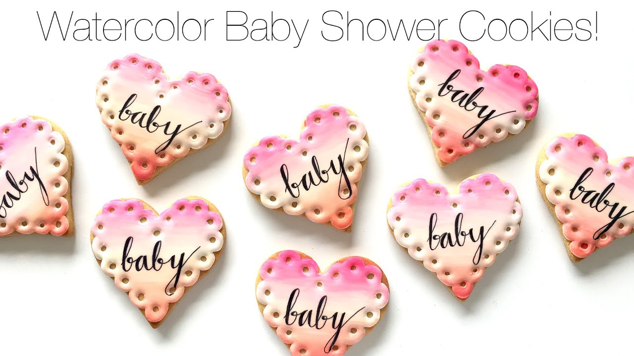 How To Decorate Watercolor Baby Shower Cookies