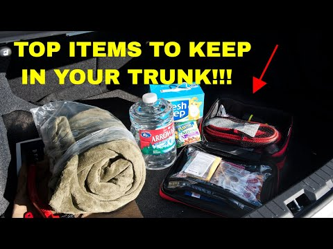 Top items you should keep in your trunk!